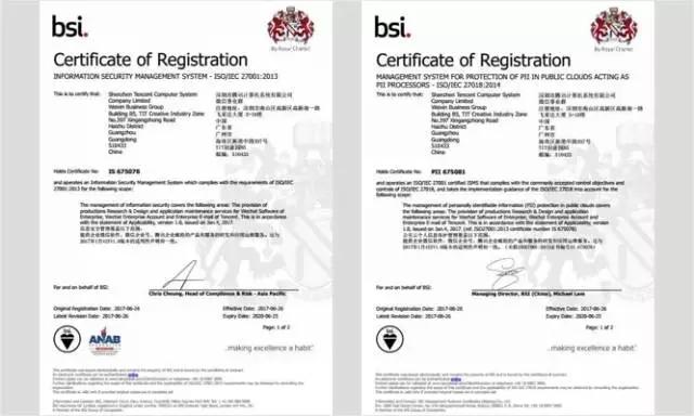企业微信率先完成国际信息安全标准认证!