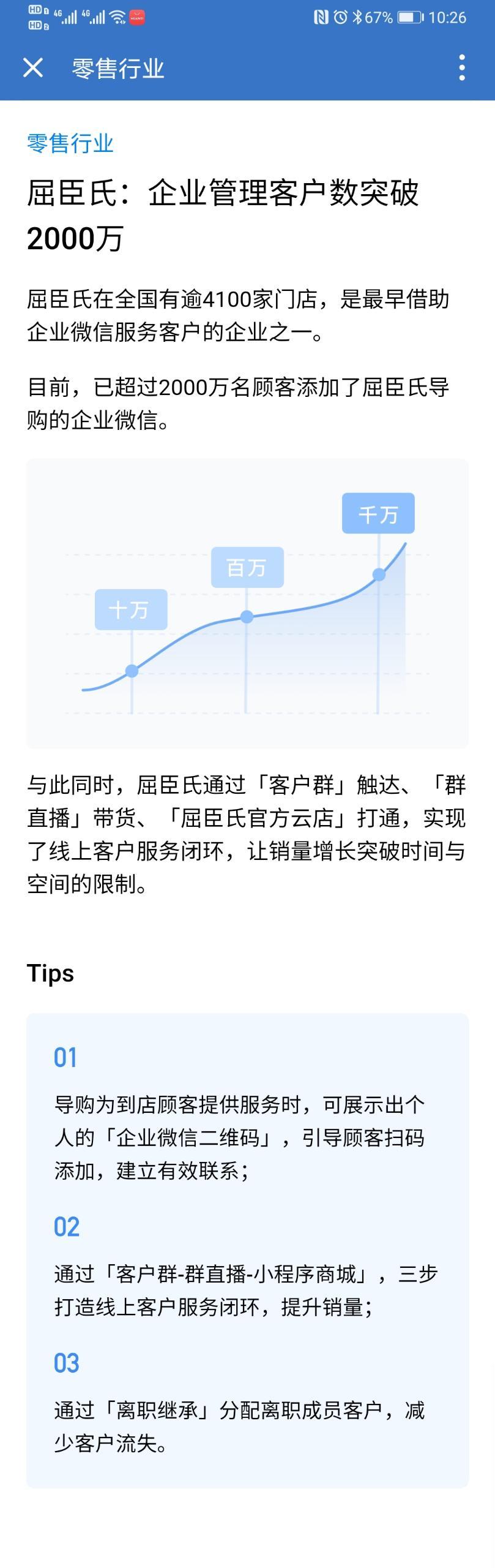 企业微信零售行业案例:屈臣氏:企业管理客户数突破2000万!