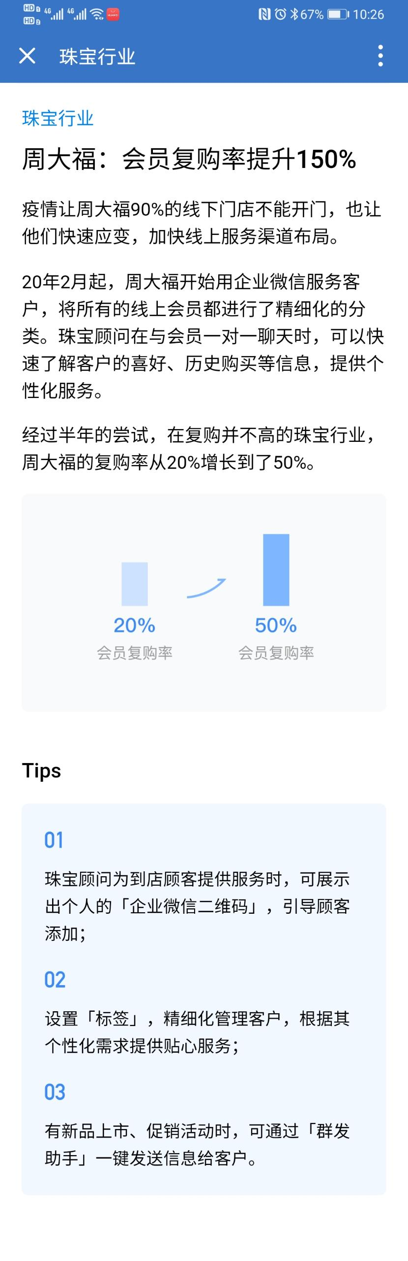 企业微信珠宝行业案例:周大福:会员复购率提升150%!